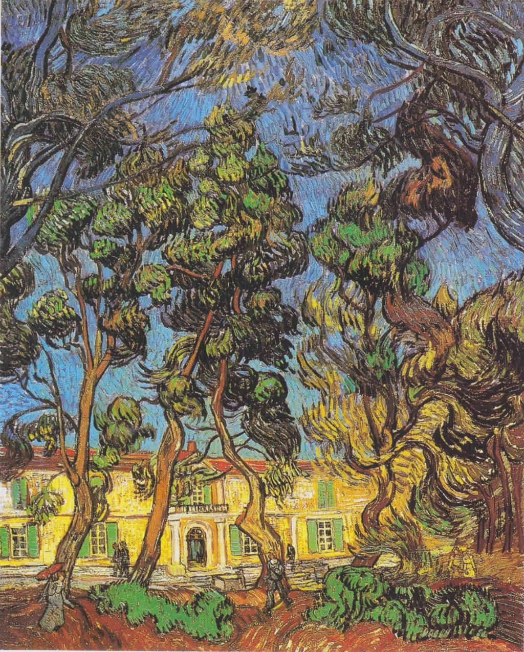 Trees in the Garden of the Hospital Saint Paul