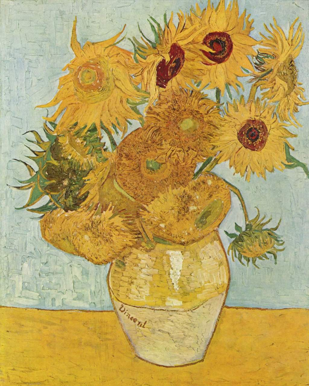 Still Life: Vase with 12 Sunflowers (1888)