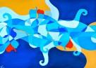 Composition 1: Squid with Patatas a lo pobre (2013 © Nicholas de Lacy-Brown)