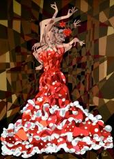 Composition 8: La Flamenca (2013 © Nicholas de Lacy-Brown)