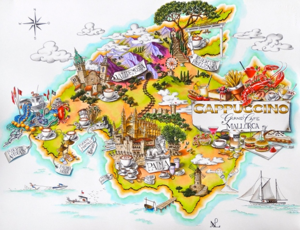 The finished Mallorca Map (2013 © Nicholas de Lacy-Brown)