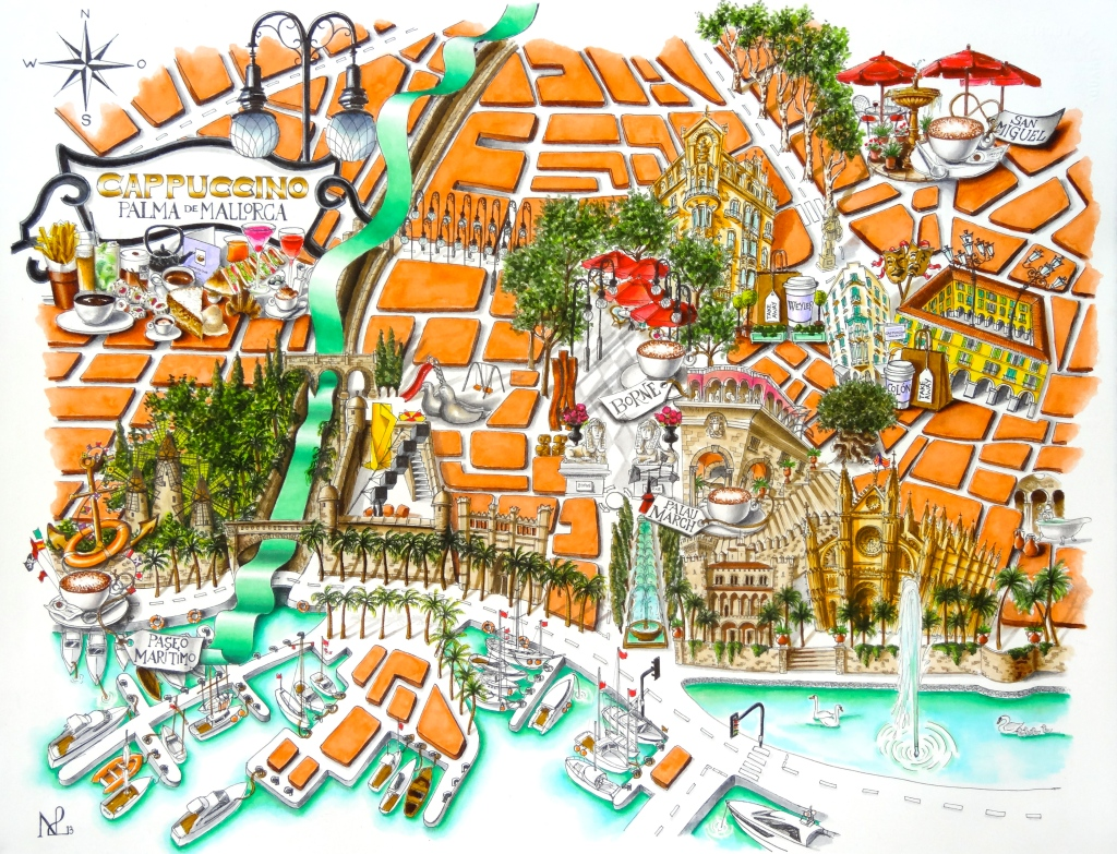 Map of Palma de Mallorca (2013 © Nicholas de Lacy-Brown)