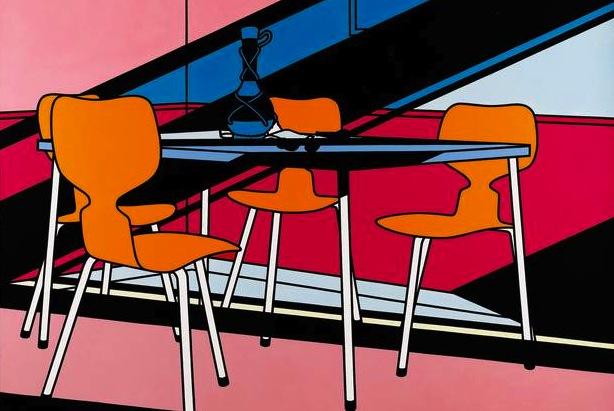 Café Interior: Afternoon (1973) © The estate of Patrick Caulfield