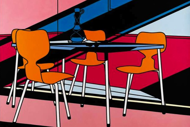 Café Interior: Afternoon (1973) © The estate of Patrick Caulfield