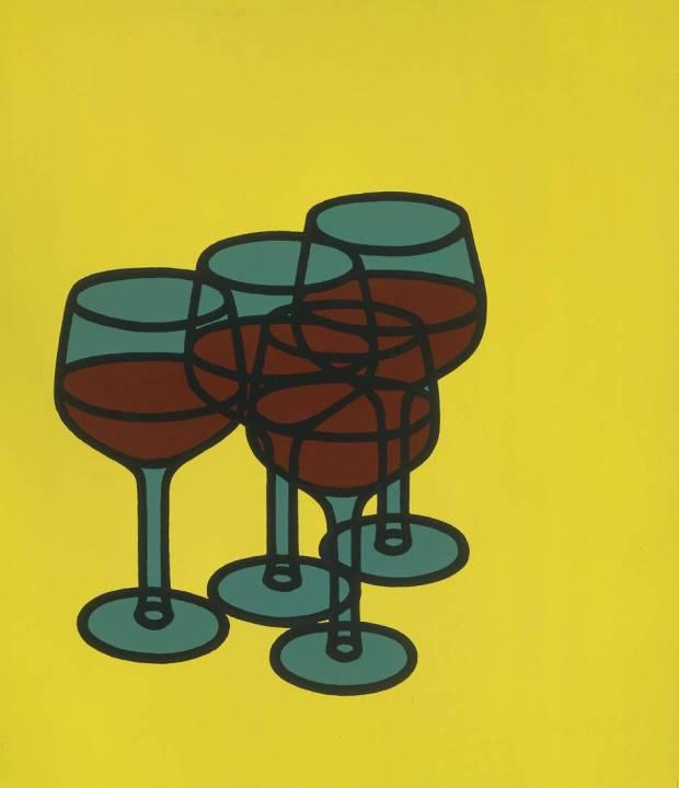 Wine Glasses (1969) © The estate of Patrick Caulfield