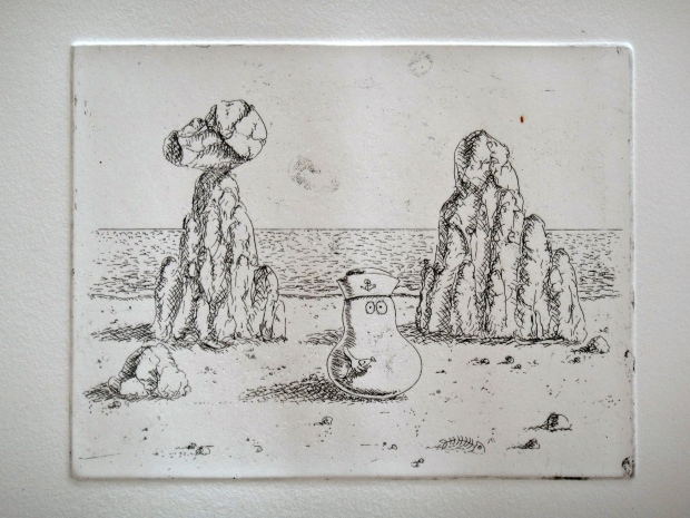 First print - before the aquatint was applied