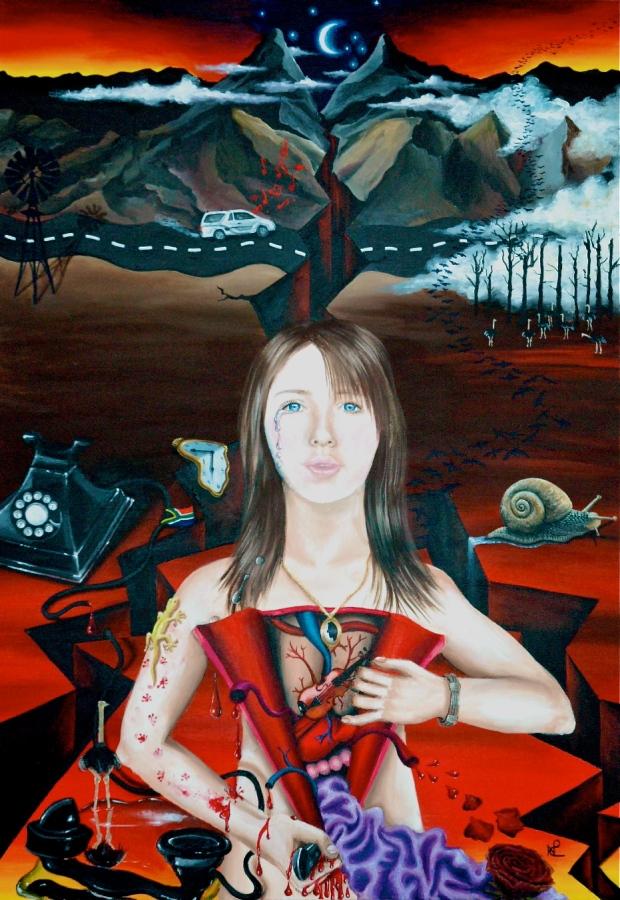 Heartbreak I (2007 © Nicholas de Lacy-Brown, acrylic on canvas)