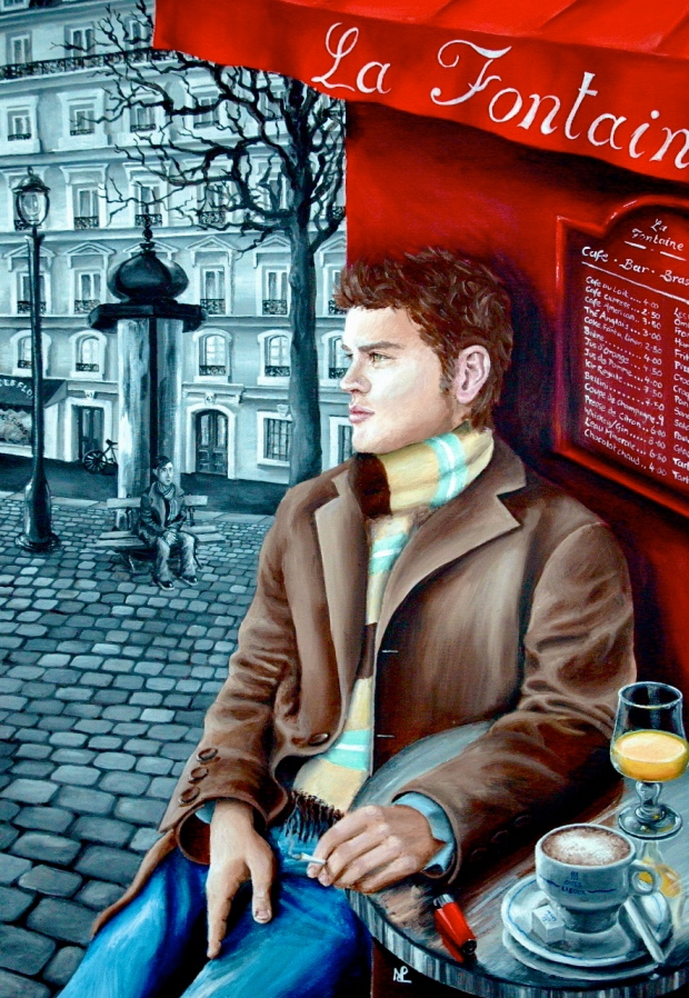 Heartbreak II: Paris in Hues of Gray (acrylic on canvas, 2007 © Nicholas de Lacy-Brown)