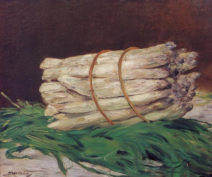 Manet's Bunch of Asparagus (1880) - part of the significant impressionist collection of Charles Ephrussi