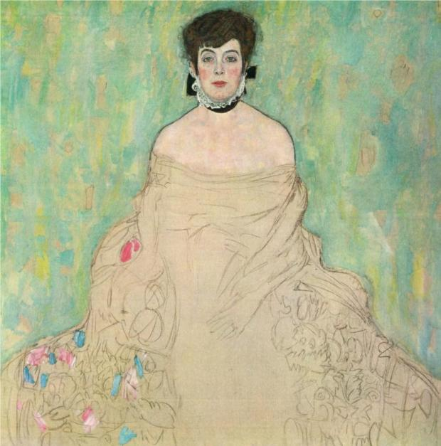 Amalie Zuckerkandl by Klimt - featuring in the National Gallery's new show on Vienna