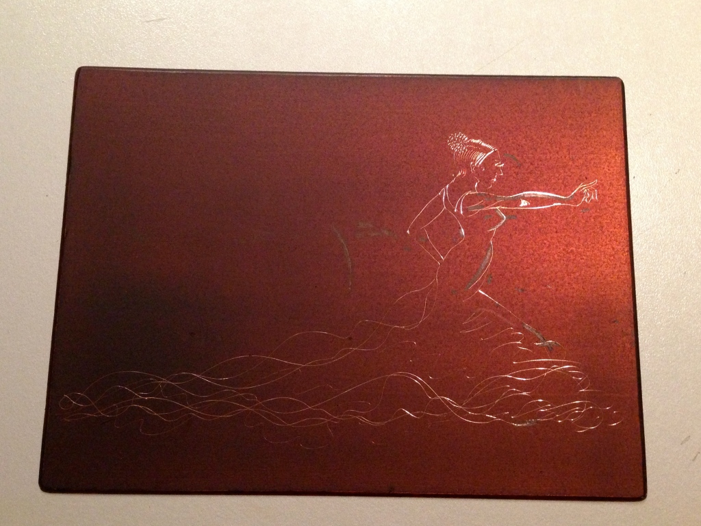 The initial line etching