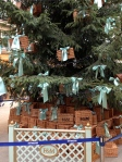 A tree after my own heart - Fortnum's Hampers dress a tree at St Pancras International