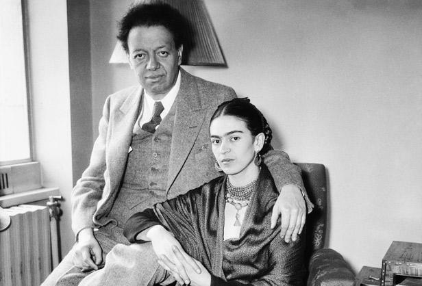 Diego Rivera with Wife Frida Kahlo