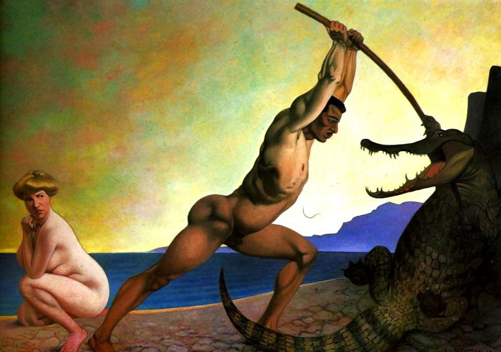 Felix-Vallotton-Persee-killing-the-Dragon