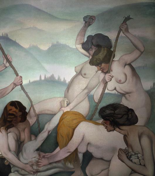 Felix Vallotton, Orpheus und die Maenaden - Valloton / Orpheus and the Maenads - Vallotton, Felix , 1865-1925.