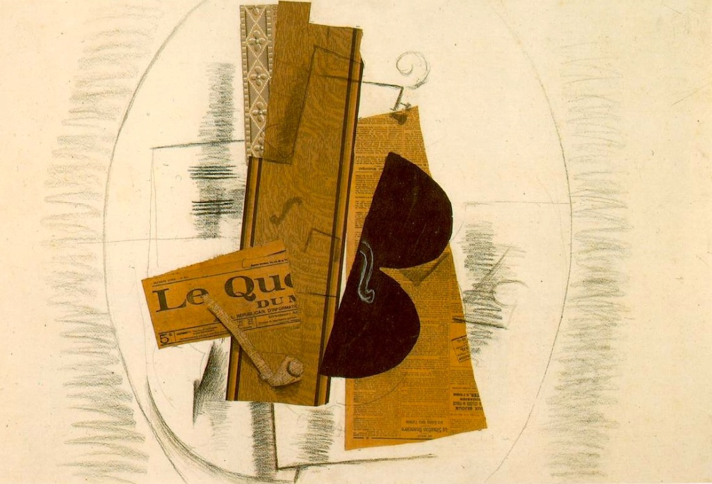 Violin and Pipe (Le Quotidien) (1913)