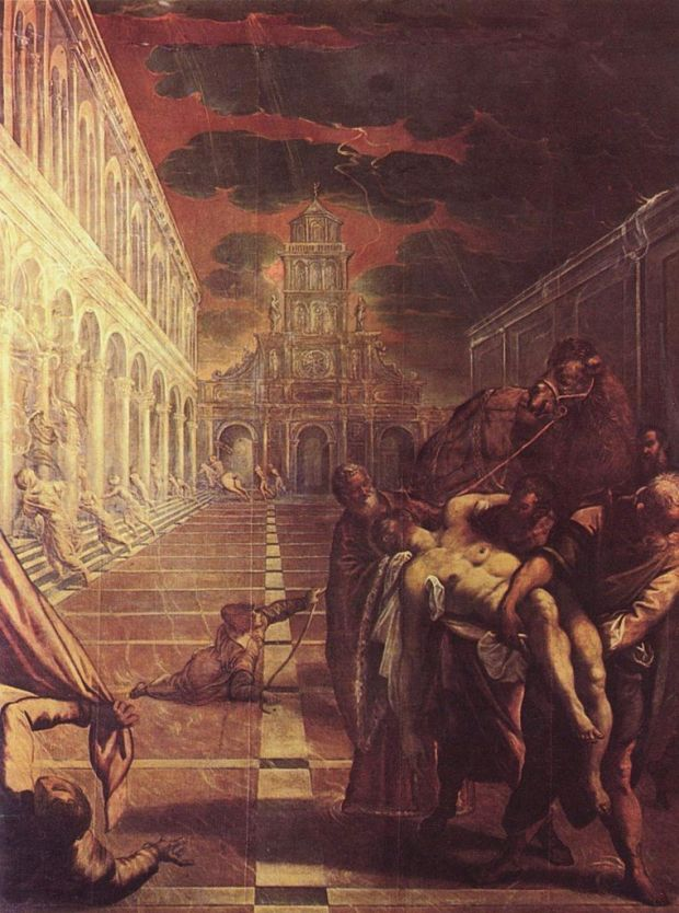 Tintoretto, St Mark's Body Brought to Venice (1548)
