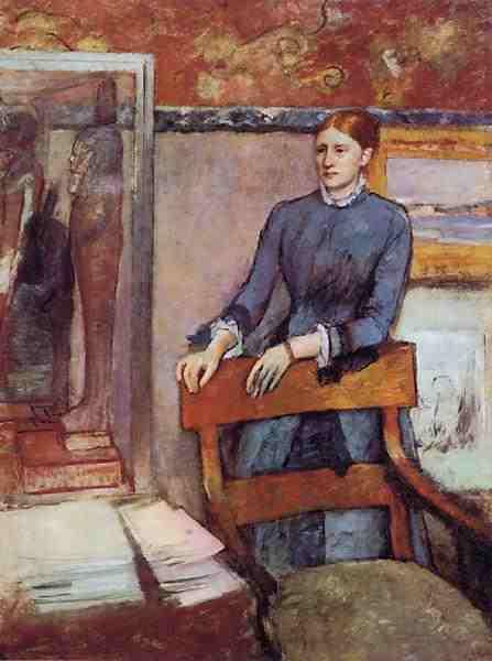 Hélène Rouart in her Father's Study (Edgar Degas, 1886)