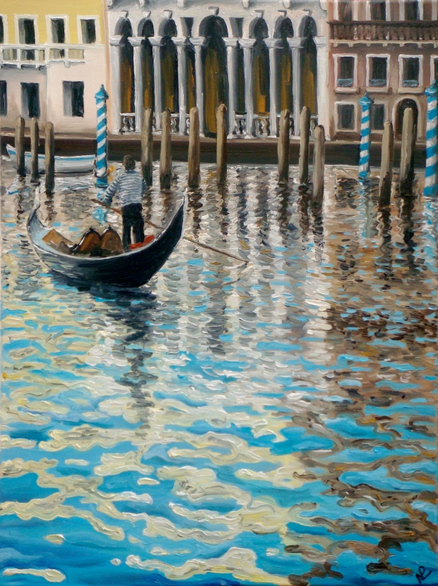 Venice I (2007 © Nicholas de Lacy-Brown, oil on canvas)