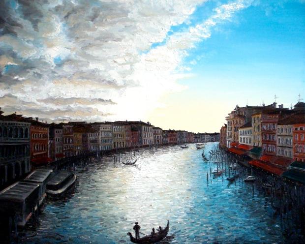 Venice V (2007 © Nicholas de Lacy-Brown, oil on canvas)