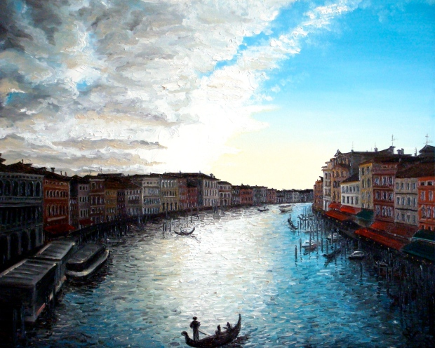 Venice V (2007 © Nicholas de Lacy-Brown, oil on canvas)