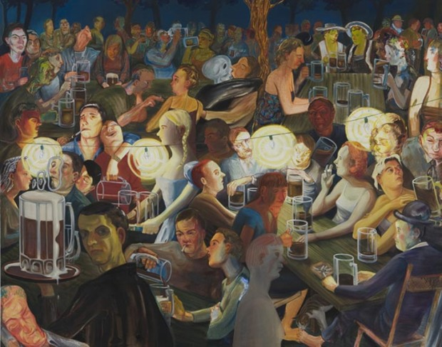 Beer Garden at NIght, ©  Nicole Eisenman, 2007