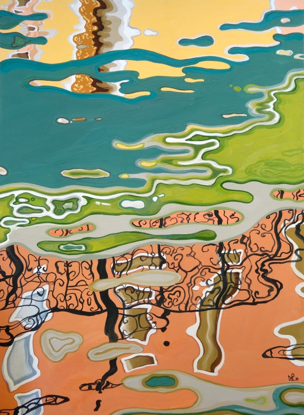 Ripples 2: Venice (Rio della Guerra) 2014 © Nicholas de Lacy-Brown, gouache on paper