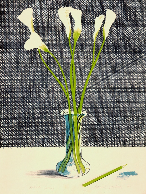 David Hockney, Lillies, 1971 © David Hockney