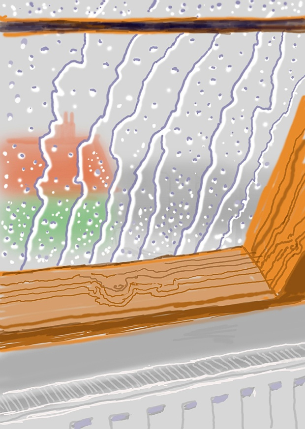 David Hockney, Rain on the Studio Window, From My Yorkshire Deluxe Edition, 2009