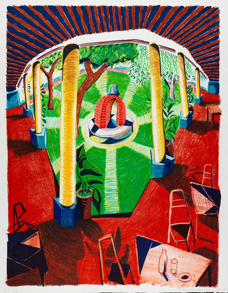 David Hockney, Views of Hotel Well III, 1984-85 © David Hockney / Tyler Graphics Ltd., Photo Credit: Richard Schmidt