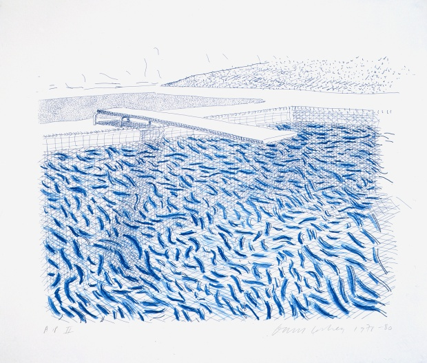David Hockney, Lithographic Water Made Of Lines And Crayon (Pool II-B) 1978-80 © David Hockney / Tyler Graphics Ltd