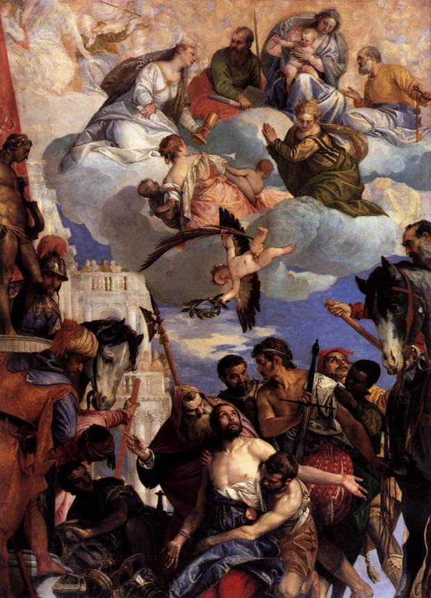 Paolo Veronese (c.1565), The Martyrdom of Saint George - on loan from the city of Verona (image source: wikipedia commons)