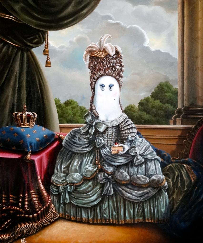 Marie Antoinette Norm (2014 © Nicholas de Lacy-Brown, acrylic on canvas)