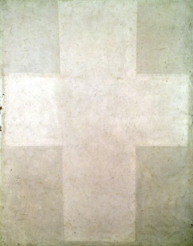 White Suprematist Cross (1920)
