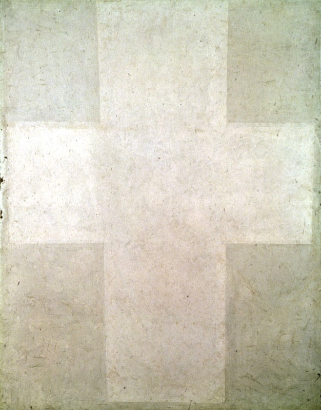 White Suprematist Cross (1920)