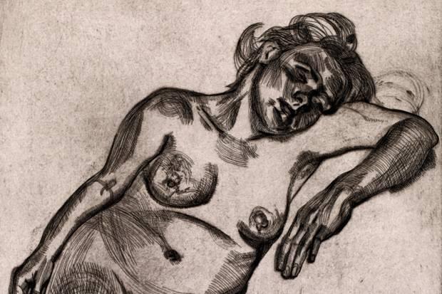 Lucian Freud - Blond Gird (detail)
