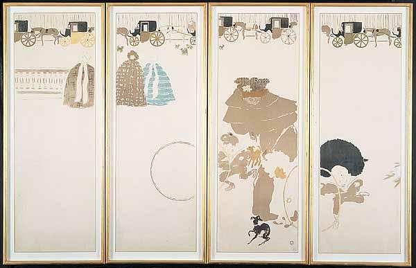 Pierre Bonnard - The Nannies' Promenade (1897)