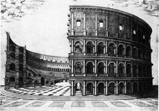 Engraving of the Colosseum