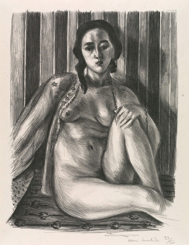 Matisse, Seated Nude Woman with a tulle blouse
