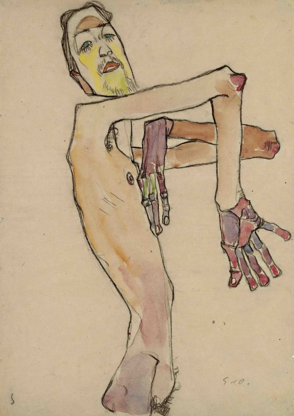 Erwin Dominik Osen, Nude with Crossed Arms,1910
