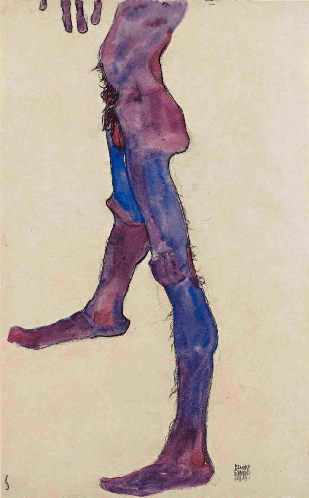 Egon Schiele, Male Lower Torso, 1910