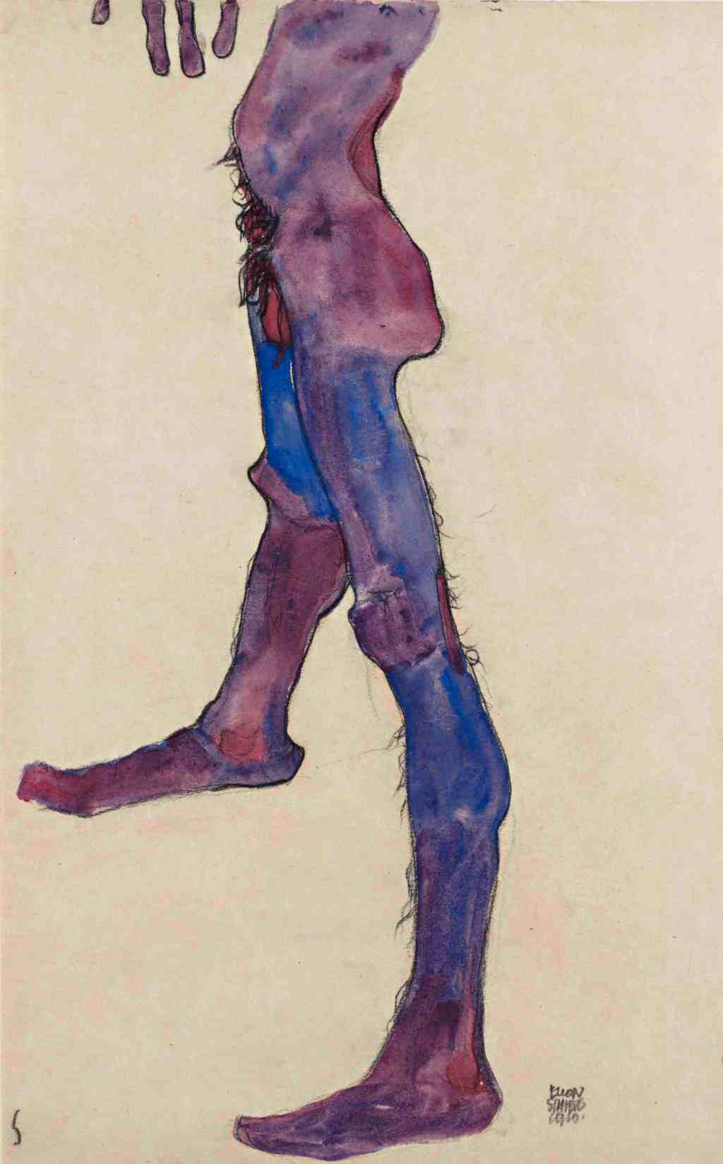 Egon Schiele, Male Lower Torso, 1910