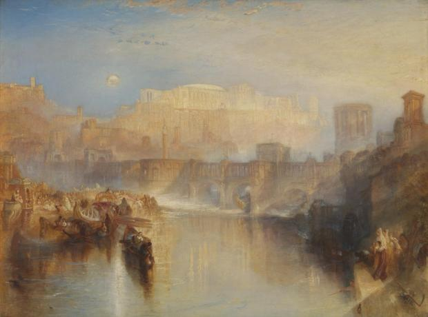 Ancient Rome; Agrippina Landing with the Ashes of Germanicus (1839)