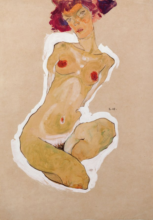 Squatting Female Nude, 1910