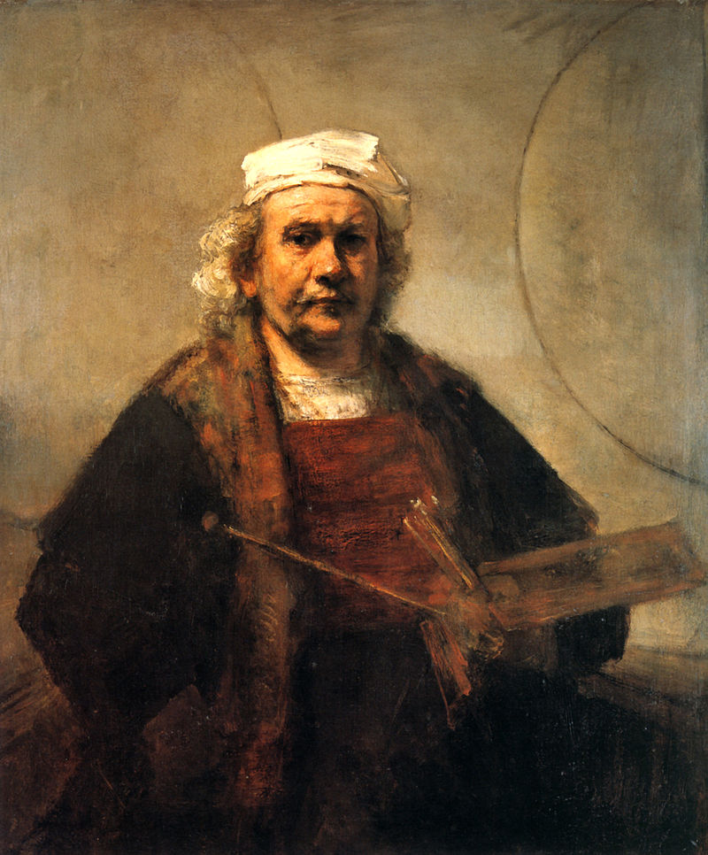 Self Portrait with Two Circles (1665-9)