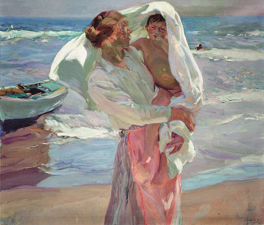 Joaquín Sorolla. Saliendo del baño. Firmado y fechado. 1915. © Fundación Museo Sorolla