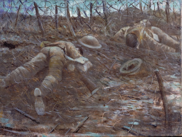 Christopher Nevinson, Paths of Glory (1917) Oil on canvas (Imperial War Museum, London)