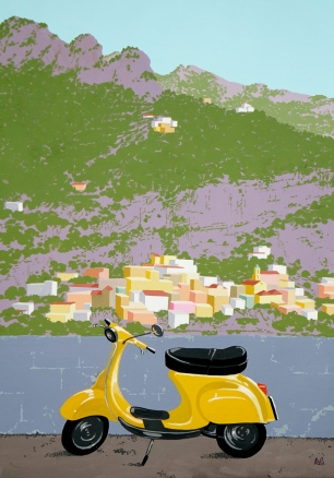 Interpretation 4: Vespa in Positano