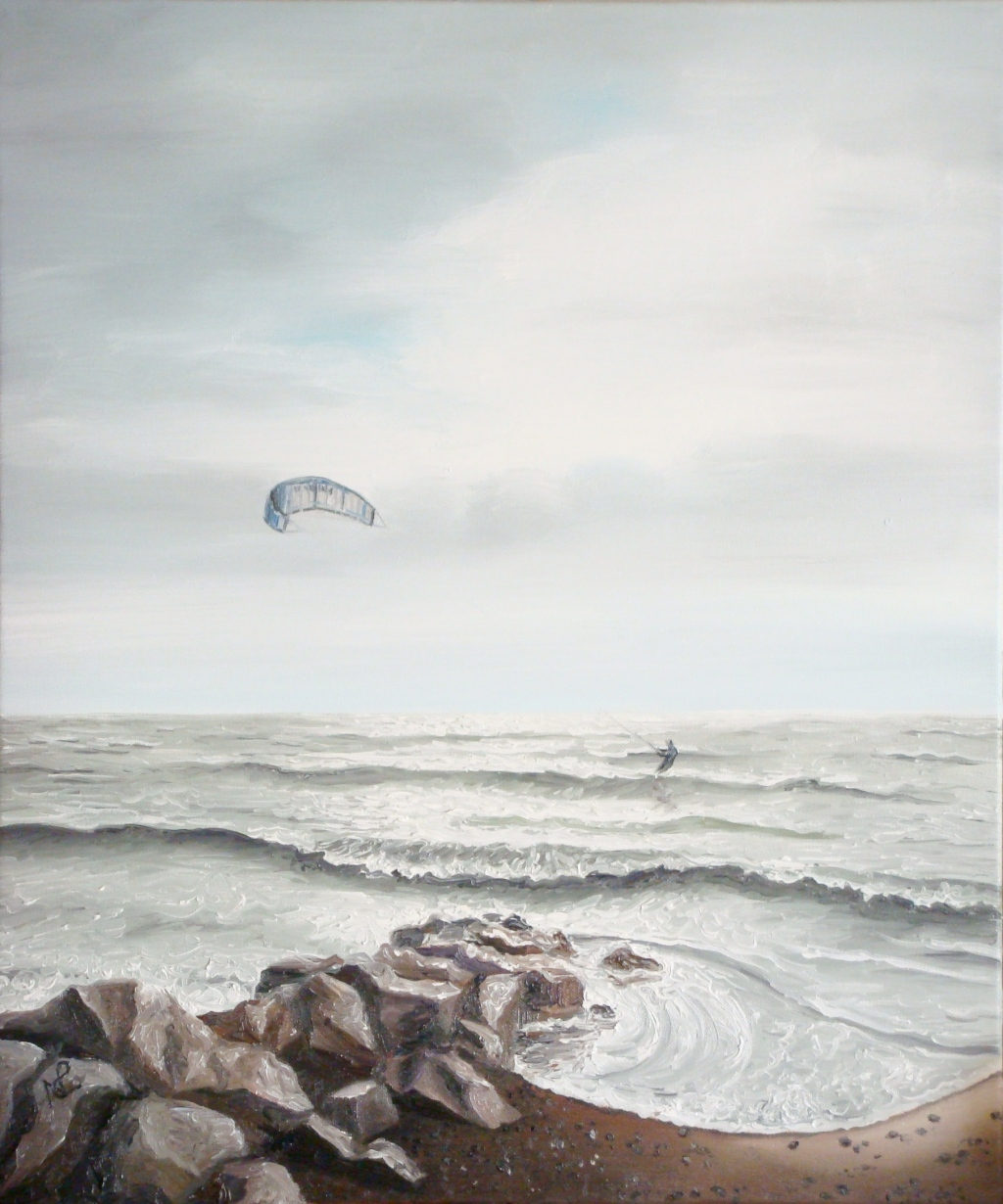 Seascape III: Silver Surfer (2008 © Nicholas de Lacy-Brown, oil on canvas)