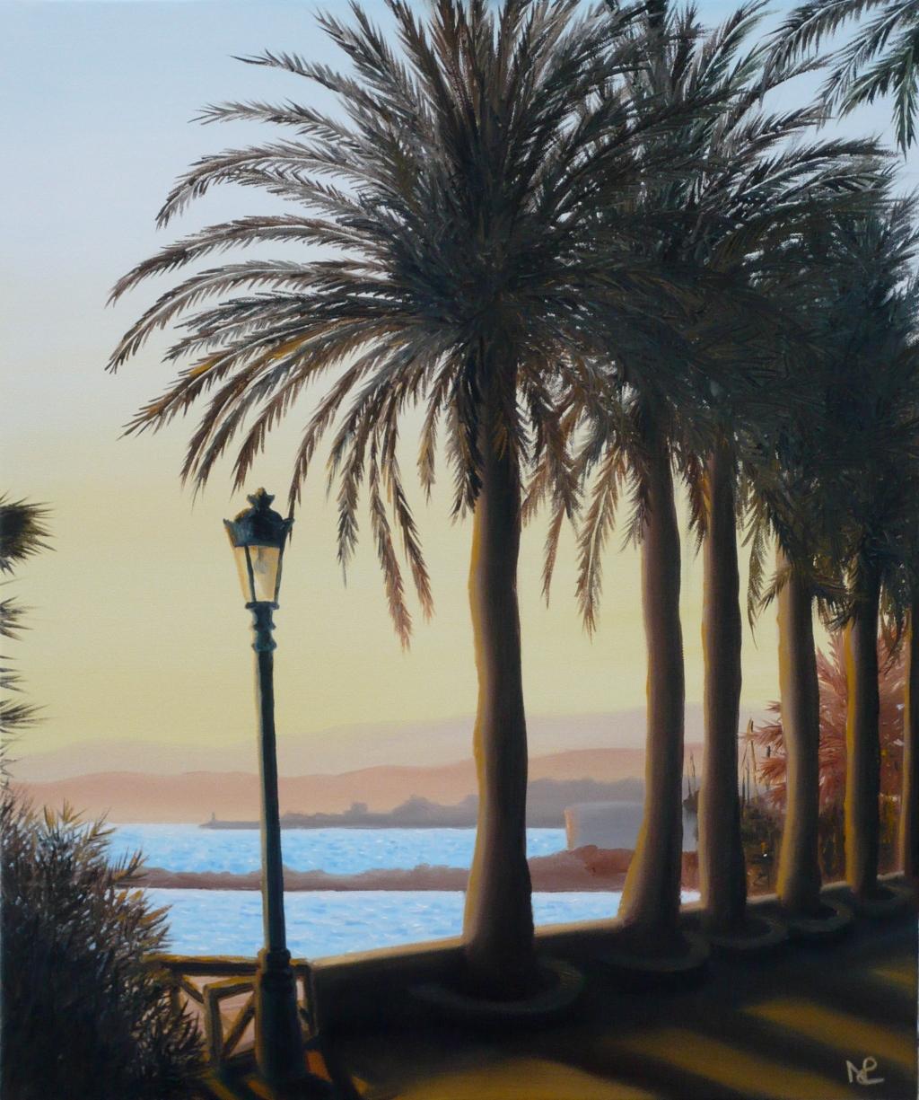 Seascape IV: Marbella (2008 © Nicholas de Lacy-Brown, oil on canvas)
